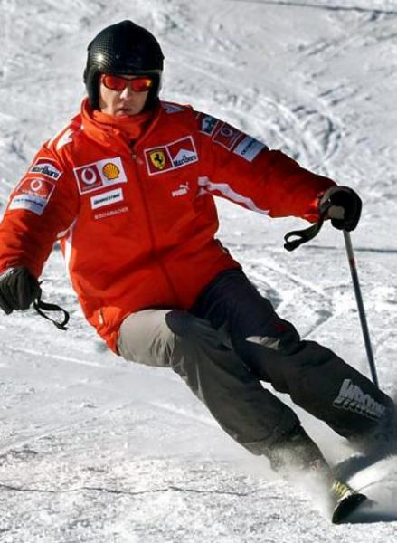 Michael Schumacher ski.